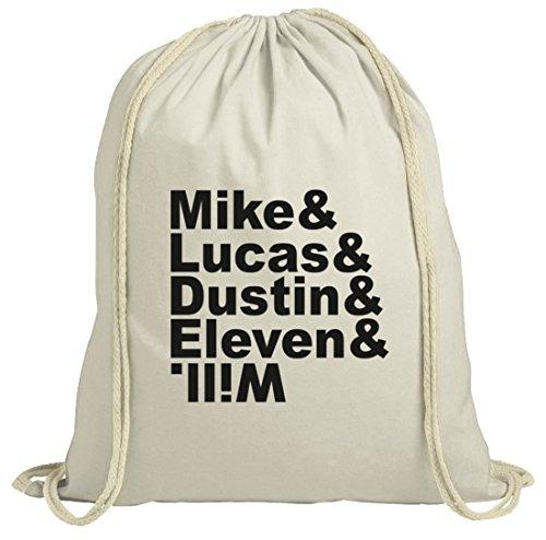 Mystery natur Turnbeutel mit Mike Lucas Dustin Eleven Will Motiv von ShirtStreet Natur