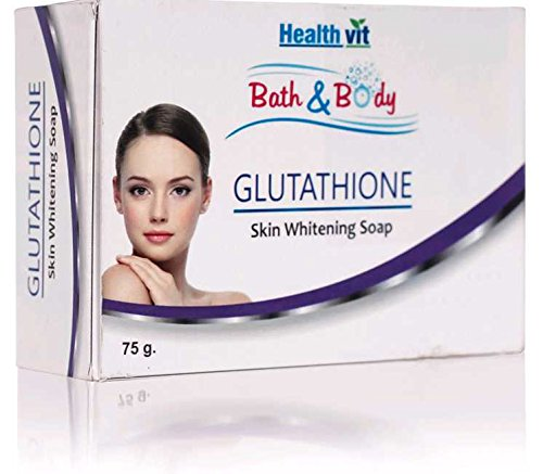 Healthvit Bath and Body Glutathione Skin Whitening Soap, 75g