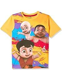 Chhota Bheem Boy's Plain Regular Fit T-Shirt