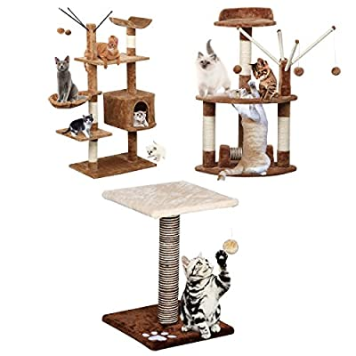 Beyondfashion Cat Kitten Tree Tower Toy Scratching Post Pet House Play with Platform & Ball New