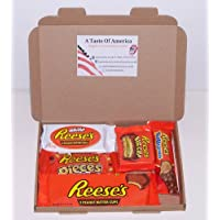 Reeses American Candy Gift Boxs - Wedding Birthday Party Retro Sweets Reeses RW