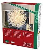 Konstsmide 2939-200 Weißer Papierstern, 51x51cm / für Innen (IP20) /  230V Innen / ohne Leuchtmittel / mit an/aus Schalter / weißes Kabel