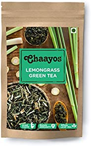 Chaayos Lemongrass Green Tea, Whole Leaf Loose Tea, Immunity Boosting - 100g [50 Cups], Green Tea