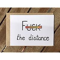 Karte - Fernbeziehung - Ich vermisse Dich - Fuck the distance