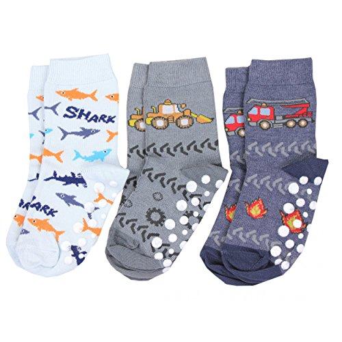 TupTam Unisex Baby Stoppersocken ABS Socken 3er Set, Farbe: Junge 2, Größe: 27-30 (Kind Socken Warm)