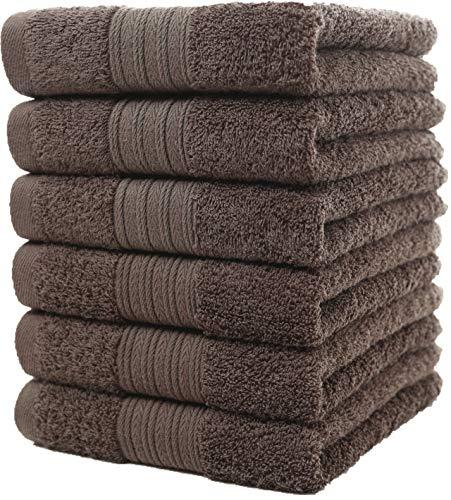 Set di asciugamani mani (6 pezzi, 40x 72 cm) - 100% cotone - perfezionare per hotel & spa - massima morbidezza e assorbenza da parte di graceaier towels (grigio)