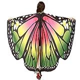 Beauté TopFemmes ailes de papillon Echarpes Châle dames Nymphe Pixie Party Poncho Accessoires Costume (Vert)