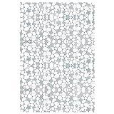 EASEHOME Vinilo Ventana Autoadhesiva Pegatina de Ventana Cristal Película Decorativa Papel Adhesivo Láminas Electrostatica Film Estática Opaco 17.7'x78.7'(45x200cm), Guijarro