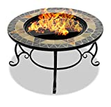 Centurion Supports Fireology Palanga Deluxe Jardin et Chauffage de terrasse Brasero/Table Basse/Barbecue/Seau à Glace–Prism Finition Ardoise Naturelle