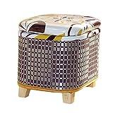 YHZ Poggiapiedi Bagagli Lidded Ottomani Storage Box Petto Seduta Versatile Scarpa da banco Divano Sgabello per Abbigliamento Soggiorno Camera da Letto,A,40 * 31 * 39CM
