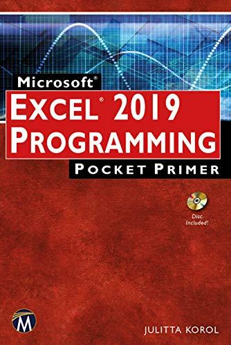 Microsoft EXCEL 2019 Programming Pocket Primer (Pocket Primer Series) (English Edition) -