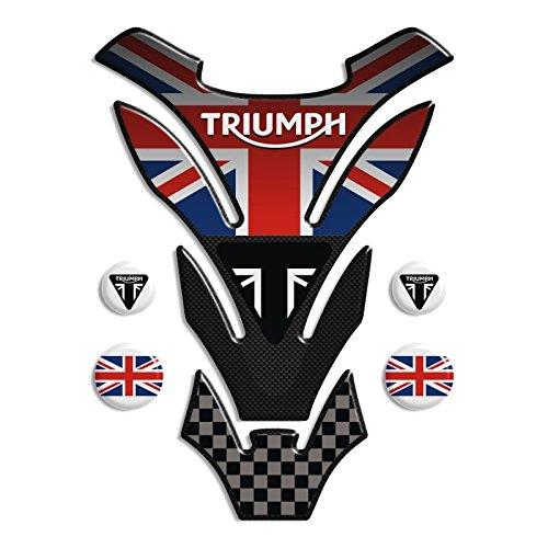 Preisvergleich Produktbild Tankpad Motorad Draht Muster Tankschutz KOMPATIBEL Polymer ,, Triumph U.K. flag Union Jack mod. DETROIT Top + 4 GRATIS 13x18cm'