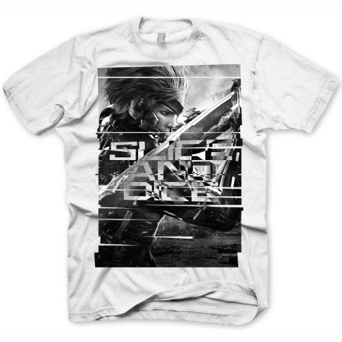 Level Up Wear Herren T-Shirt Slice & Dice Weiß - Weiß
