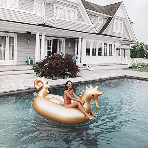 bare Seepferdchen Pool Float, Pool Island, Sommer Pool Liegen Strand Schwimmt, Wasser Spaß Beach Party Spielzeug, für Erwachsene Kinder (275 * 140 * 120 cm) ()