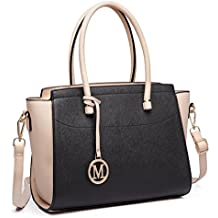 c888d8a59fed1 Miss Lulu Damen Klassische Handtasche Winged Schultertasche Groß  Umhängetasche Taschen