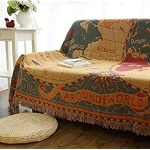 XYJHER Europeo Protector para sofá o sofás Manta sofá Manta cálido Super Suave Comodidad Cuidado Regalo sofá Cubierta, 1, 130 * 180cm,