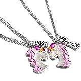 Yinew Mädchen Halskette Einhorn Halskette Anhänger Guten Freund BFF Geschenk
