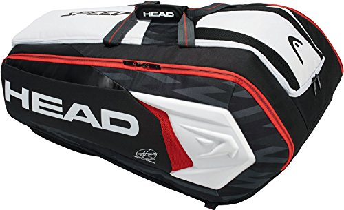 Head Djokovic Monstercombi Borsa da Tennis, Nero/Bianco/Rosso, 12R