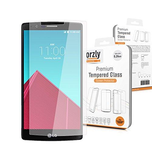 Orzly® - LG G4 Prima Cristal Templado Protector de Pantalla - 0,24mm...