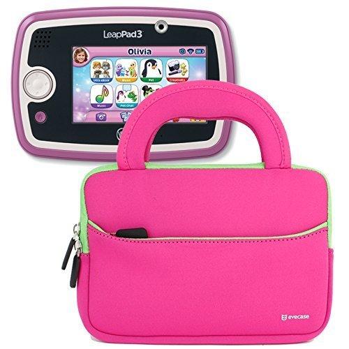 Evecase Funda de Neopreno para proteger tablets de 7 a 8 pulgadas color fucsia para niña