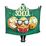 JIMO Smiley Faces mit Kapuze Emotion Gesichtsausdruck Emoji-Decke 60 x 50 Zoll Comfotable Hooded Throw Wrap