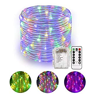 Tubo de luz LED B-right 14M 120 RGB Tubo de luz con control remoto, tira de LED Tubo de luces de hadas para interiores y exteriores, luces de hadas con pilas para la fiesta de la habitación