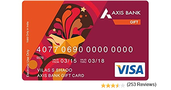 Axis Bank Gift Card Rs 5000 Amazon In Gift Cards