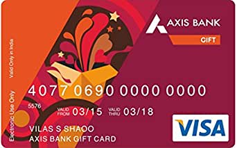 Axis Bank Gift Card - Rs. 5000