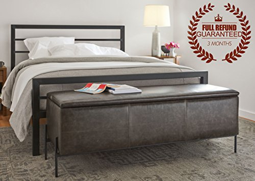 3ft-single-metal-bed-frame-with-2-headboard-black-90-x-190cmnote-mattress-pillow-and-sheet-is-not-in