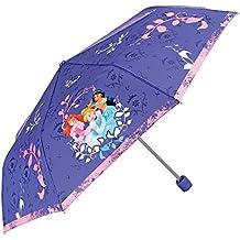 PERLETTI 50426 Mini 50/8 - Paraguas para niña (3 Secciones, Resistente al