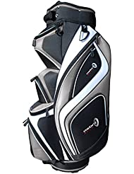 Asbri Golf XP14 Cart - Bolsa de carro para palos de golf, color plata