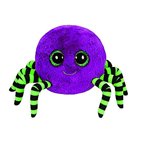 Beanie Boo Halloween Spider -  Crawly the Spider (Purple) - 15cm 6""