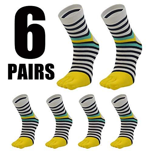 Yanqanr Five Toe Zebra Stripe Calcetines medianos