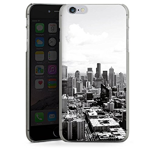 Apple iPhone 7 Silikon Hülle Case Schutzhülle City Stadt Skyline Hard Case anthrazit-klar