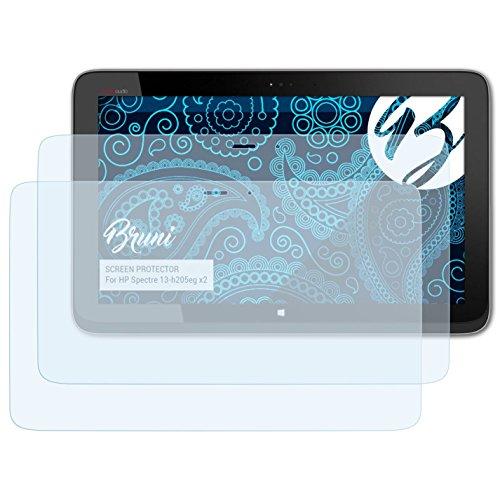 Bruni Schutzfolie kompatibel mit HP Spectre 13-h205eg x2 Folie, glasklare Bildschirmschutzfolie (2X)