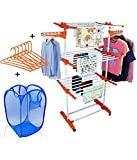 #2: TNC LIFE TIME USE CLOTH DRYING DRYER STAND RACKS WITH LAUNDRY AND 6 PS HANGER FREE @ WHOLESALE PRICE FROM MANUFACTURER ( MADE IN INDIA)