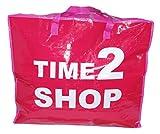 Extragroße Aufbewahrungstasche Riesentasche Wäschetasche Umzugstasche Jumbo Bag 90 Liter, Farbig mit Aufschrift (Rot)