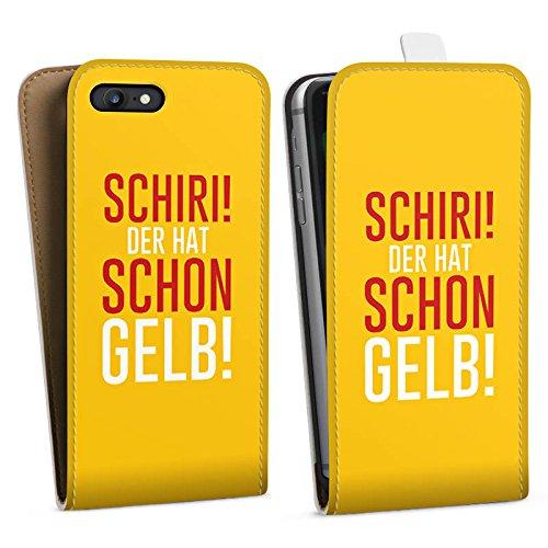 Apple iPhone X Silikon Hülle Case Schutzhülle Fußball Kreisliga Schiri Downflip Tasche weiß