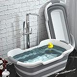 Xinyuanjiafang Baby Shower Bañeras de Silicona portátiles para Mascotas Accesorios de baño Bañera Plegable Antideslizante para bebés Seguridad Seguridad Bañeras para Perros y Gatos,2
