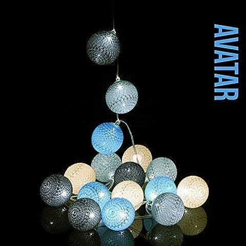 Guirlande boules lumineuses LED USB - GuirLED® Qualité française - (Chargeur double USB 2A inclus) - Modèle Avatar