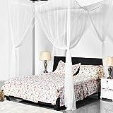 ulable Super Größe Vier Ecke quadratisch Moskitonetz Betthimmel Set Schlafzimmer Dekoration