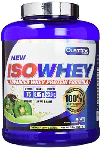 Quamtrax Nutrition Isowhey 5 Lb Suplementos de Proteínas con Aroma de Kiwi - 2267 gr
