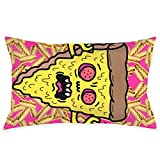 Xukmefat Pillowcase Scarey Pizza Microfiber Pillow Cover Soft and Cozy,Decorative Throw Cushion Covers 20x30Inch