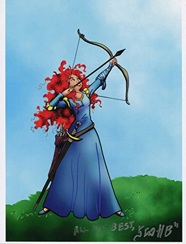 brave-merida-drawing-bow-fun-signed-tribute-85x11-color-print-with-coa