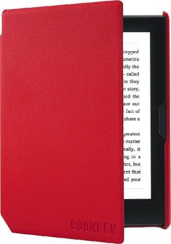 Couverture Rouge Vermillon pour Liseuse Bookeen Cybook Muse en Simili-Cuir