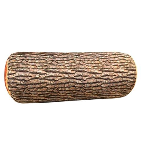 Ivory King-spannbetttuch (squarex Design Natur Holz Log Überwurf Kissen Weiches Kissen Auto Hals Home Schlafsack braun braun A:26X9cm)
