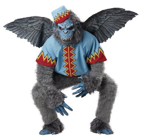 Fliegende Affen Kostüm - California Costumes Fliegender AFFE Märchen Halloween Herrenkostüm grau-blau-rot L (42/44)