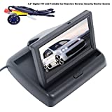 UNIQOUTLET Digital TFT LCD Foldable/Car Rearview Reverse Security Monitor Screen Parking Backup Camera/16:9