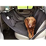 Fluffy's Pet Dog Seat Cover - Waterproof Pets Cars, Trucks And Suvs Luxury Full Protector Hammock Convertible, Non-Slip Backing With Seat Anchors