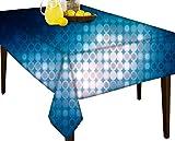 Blau Beats wasserabweisend Tischdecke Esstisch Cover Protector, Vinyl, multi, 60 x 80
